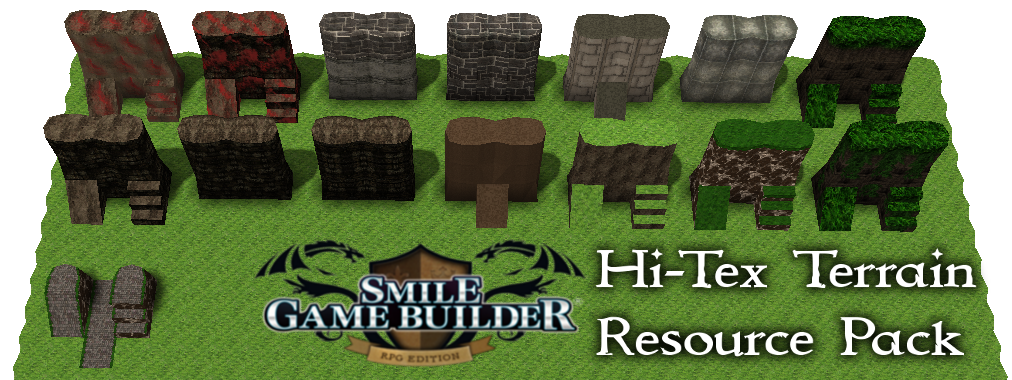 Hi-Tex Terrain Resource Pack 1 - Smile Game Builder