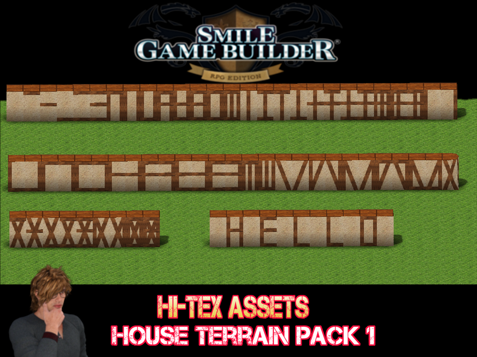 Smile Game Builder Hi-Tex House Terrain Pack 1 - Promo 1